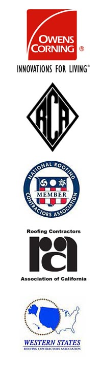 logos for Mike's Roofing & Building Associations