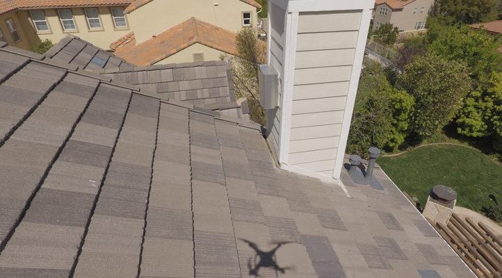 modern suburban house roof